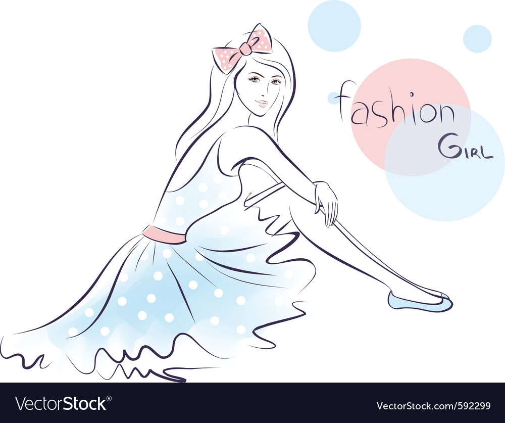 Stylish fashion beauty girl vector | Price: 1 Credit (USD $1)
