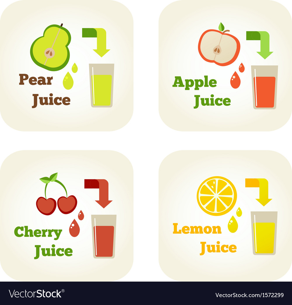 Summer holidays set with fruit juices vector | Price: 1 Credit (USD $1)