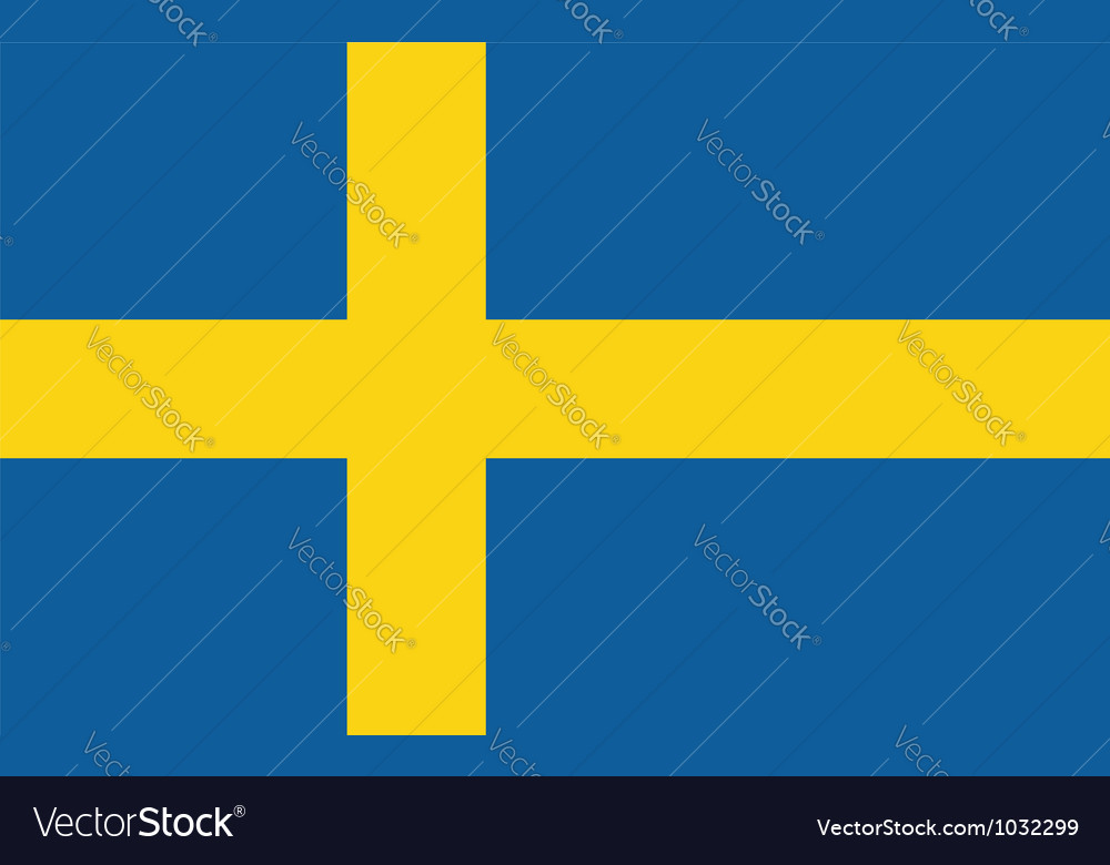 Sweden flag vector | Price: 1 Credit (USD $1)