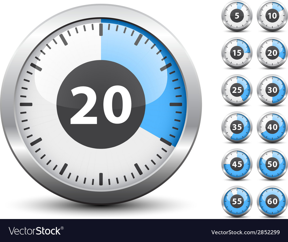 Timer - easy change time every one minute vector   Price: 1 Credit (USD $1)