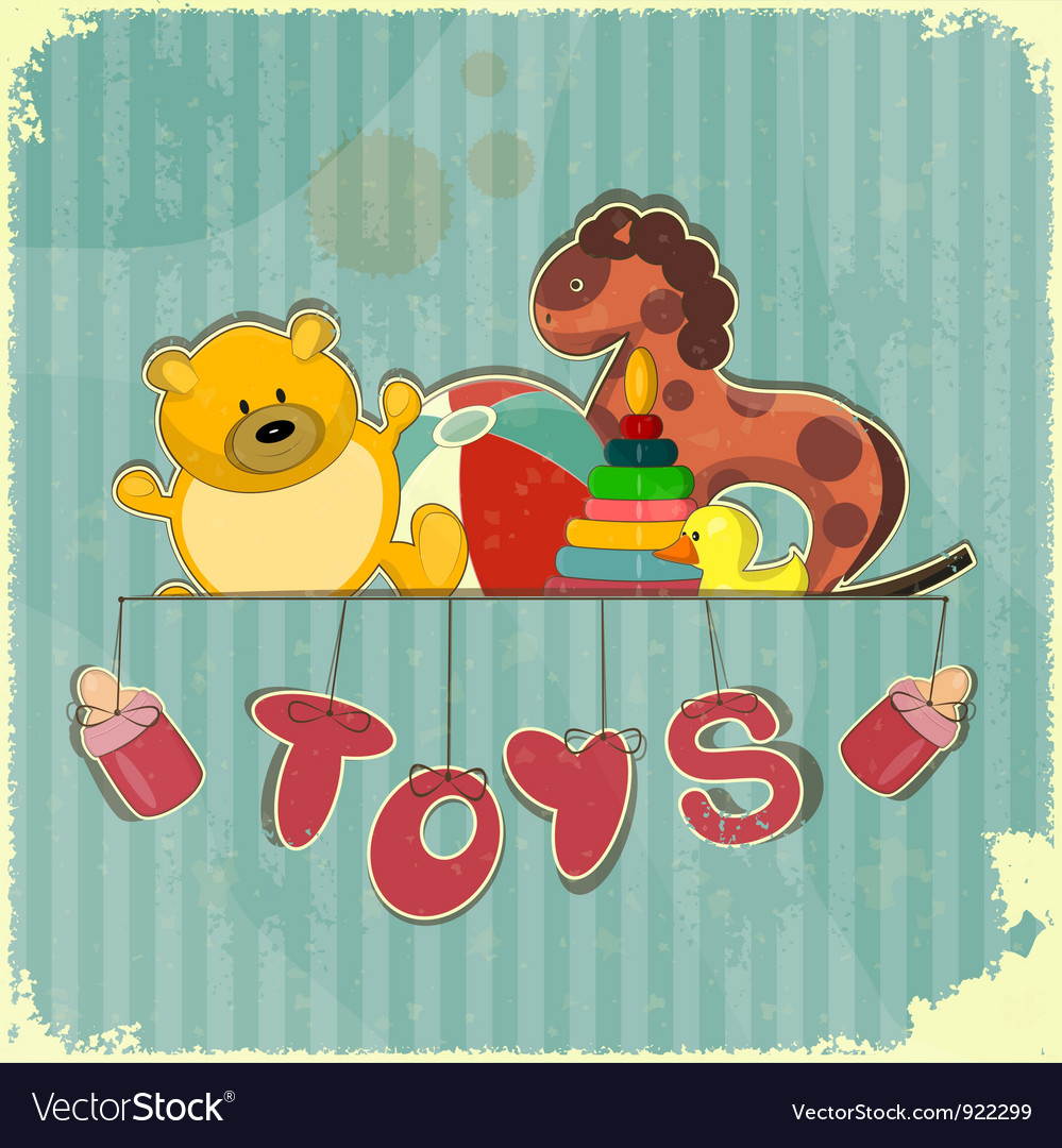 Vintage design toy shop vector | Price: 1 Credit (USD $1)