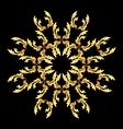Golden flower pattern vector