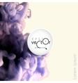 Cloud of ink in water vector