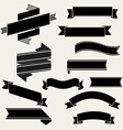 Retro ribbon set vector