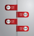 Modern design time line style infographic template vector