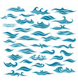 Set stylized waves from element of the design vector