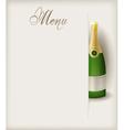 Menu vertical champagne vector