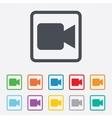 Video camera sign icon video content button vector