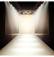 Fashion runway background vector