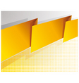 Abstract yellow banner vector