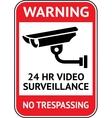 Video surveillance cctv label vector