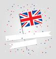 British flag over festive background vector