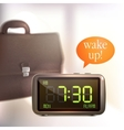 Digital alarm clock background vector