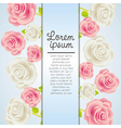 Invitation card with colorful roses vector