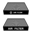 Air filter symbols vector