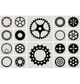 Mechanical cogs and gear wheel set vector