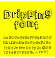 Abstract dripping font vector
