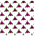White seamless texture with pink roses vector