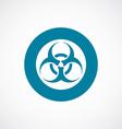 Bio hazard icon bold blue circle border vector