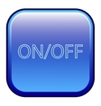Big blue button labeled onoff vector