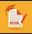 Creative new year 2015 design with education vector