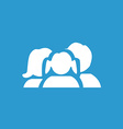 Family icon white on the blue background vector