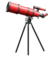 A telescope on a white background vector