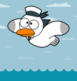 Cartoon seagull vector