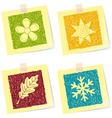 Four seasons sketches vector