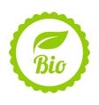 Green bio icon or symbol vector