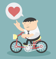 Business cycling show love vector