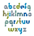 Alphabet shiny letters set hand-drawn colorful vector