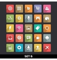 Trendy icons with long shadow set 6 vector