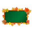 Autumn blackboard vector