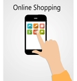 Online shopping flat concept vector