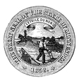 Seal of the state of minnesota vintage engraving vector
