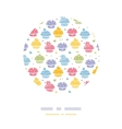 Colorful cupcake party circle decor pattern vector