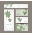 Business cards collection floral design vector