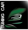 Abstract with green tuning sports car vector
