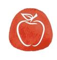 Sketch of red apple vector