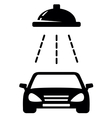 Isolated black car wash icon vector