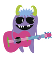 Monster guitarist character vector