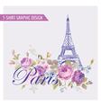 Floral paris graphic design - for t-shirt vector