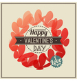 Retro valentines day greeting with butterflies vector