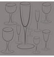 Set of glasses of different sizes vector
