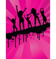 Grunge party girls vector
