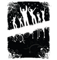 Grunge party people vector