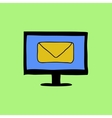 Doodle color email sign vector