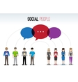 Social people concept vector