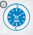 Graphic web 24 hours timer around-the-clock flat vector